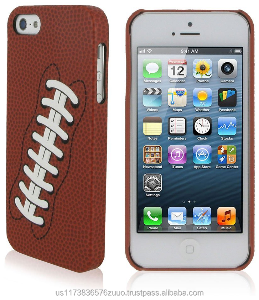 SportsFan Football Ultra Slim Shell Case for iPhone 5/5s (not compatible with 5c) roocase (White)