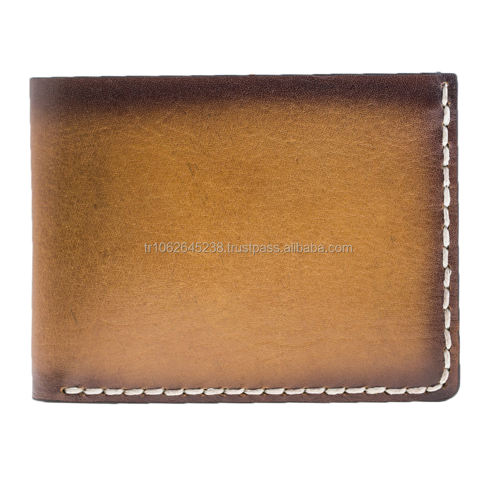 Vintage Style Leather Man Wallet with Extra Slots