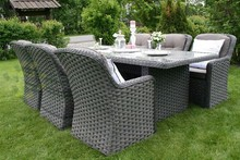 Evergreen Wicker Furniture - Outdoor Patio Furniture Dining Set