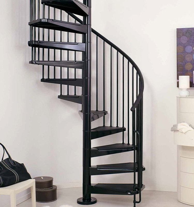Indoor usage and iron stair material modern spiral for Escaleras de material