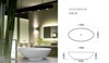 SOLID SURFACE FREE STANDING BATHTUB MODEL OVAL W