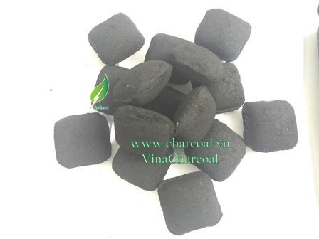 Coconut shell charcoal for Grilling in Pillow shape with impressive quotation
