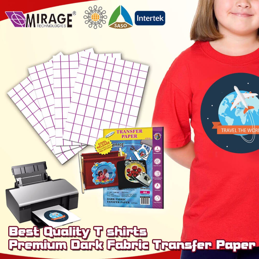 Best Premium T shirt Dark Textile Transfer Paper Used