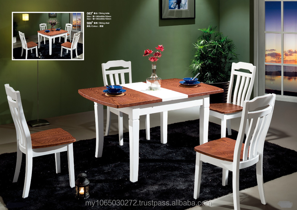 Solid wood extendable dining table set,dining room furniture with high quality