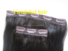 Full head set 6A 7A 8A Grade Double Drawn Remy Human Hair Clip in Hair Extensions
