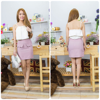 Elegant Design for office and party, lady skirt, New model of clothes women dresses direct from Thailand clothing manufactures