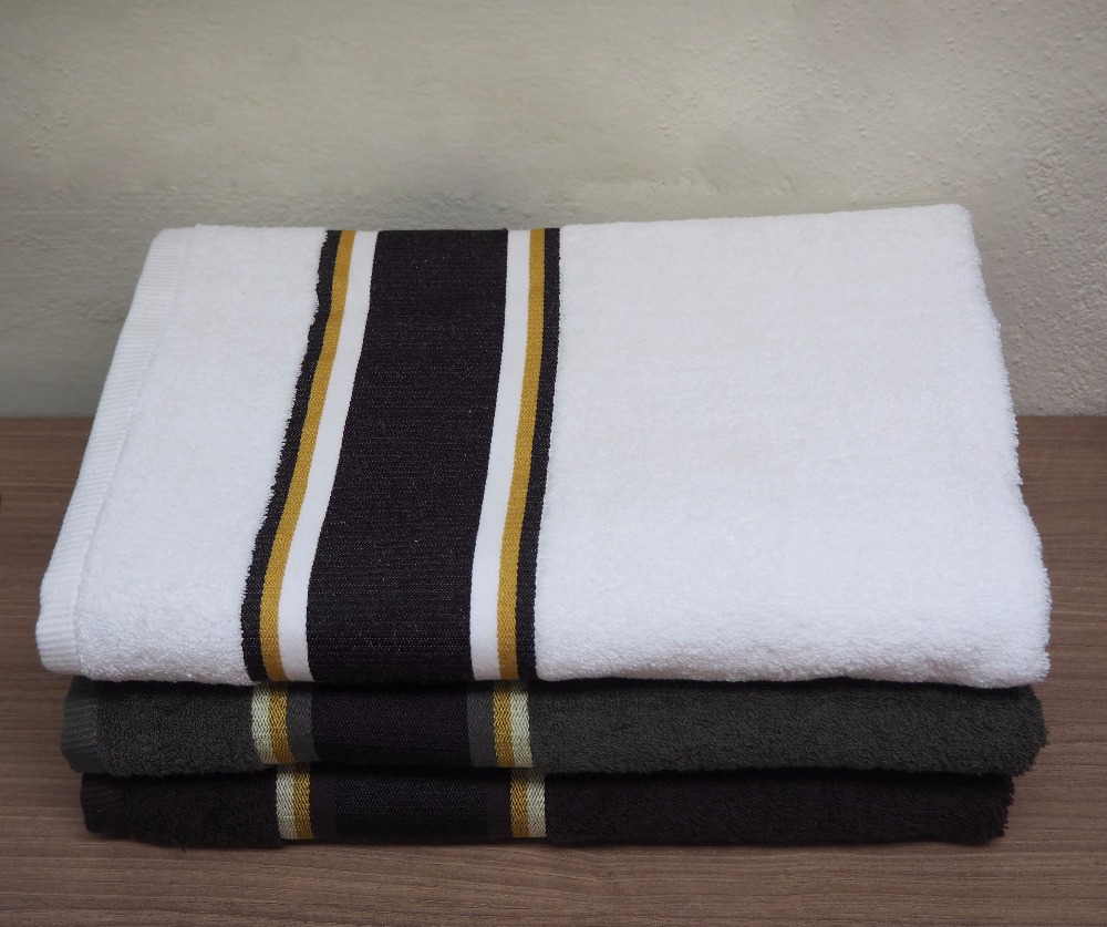 100%Combed Cotton Yarn Dyed Color Bath Towel