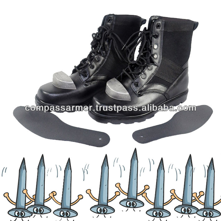 8'' Combat Boots with steel toe and innner sole Half Canvas lining