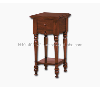 Unique Design Mahogany Small Corner Hall Table Jepara Furniture