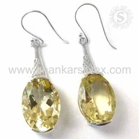 Offers Yellow Citrine Earring Wholesale Handmade Silver Jewelry 925 Silver Gemstone Earring