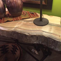 Irregular Design Natural Onyx Stone Table Top