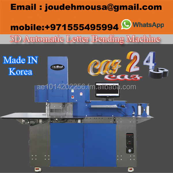 Automatic channel letter bending machine (made in Korea)