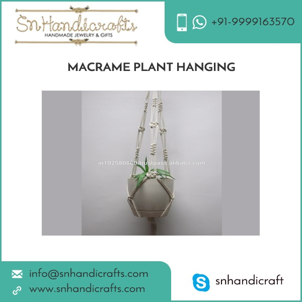 Elegant Look Long Lasting Macrame Plant Hangers from Reliable Supplier