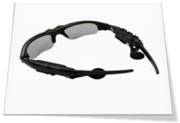 Black Coloured Wearable Eyeglass Security Camera