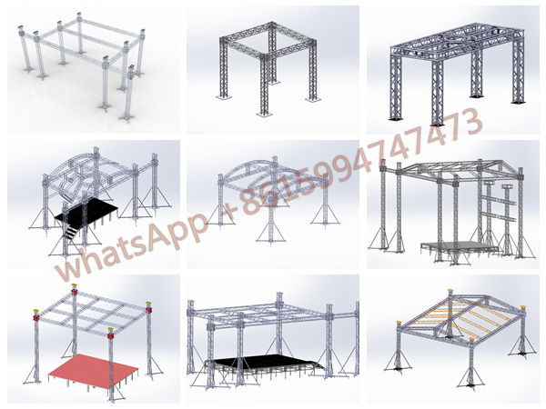 aluminum spigot lighting event truss stand