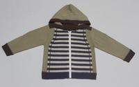 Kids Unisex Long Sleeve Hooded Cardigan With Full Zipper