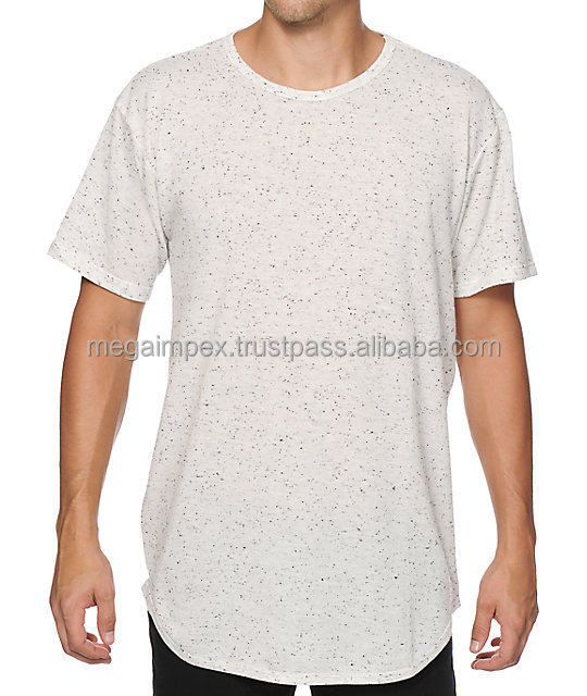 Distressed Elongated T Shirt - Distressed wholesale elongated t shirts -Fashion tow tone design custom Hip Hop Clothing elongate