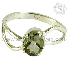2015 Indian Wholesale Green Amethyst Jewelry Sterling Silver Ring RNCT2222-38
