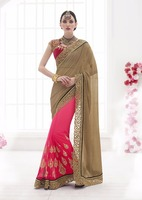 Designer Saree With Lace Work