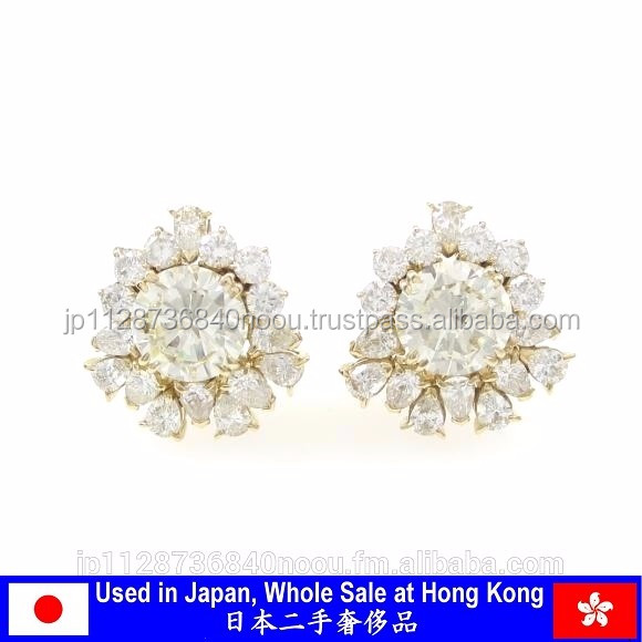 Authentic pre-owned diamond earring jewelry for Hong Kong wholesale