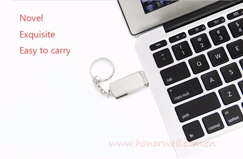 Wholesale Metal Twister Custom USB Flash Drive with Key Chain