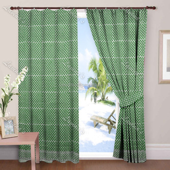 Indian hand block printed cotton door drapery panel window valance treatment sliding hanging curtain