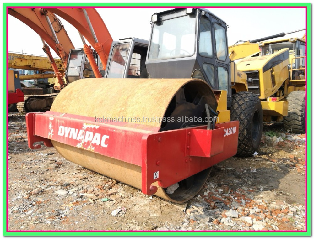road roller dynapac CA301D CA300d used machines for sale used asphalt rollers for sale new roller price