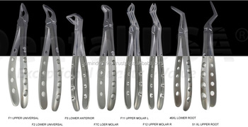 GMI DENTAL EXTRACTION FORCEPS English Pattern Set / Dentist Tools GMI-1022