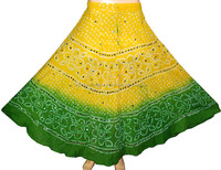 Women's Casual Outing Wear Skirt Summer Cotton Long Skirt With Sparkling Sequins Work
