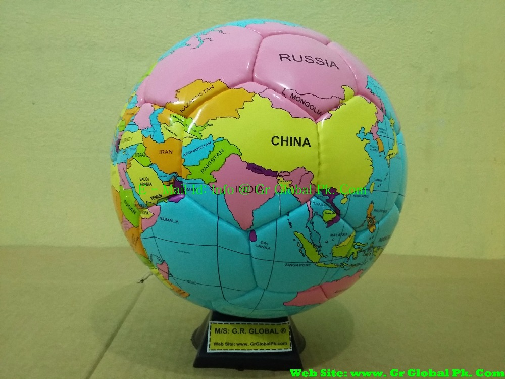 World Map Official Size and Weight Soccer Ball, Size 5 with Custom Logo
