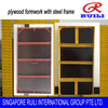 plywood formwork with steel frame