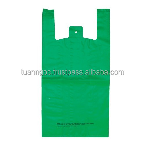 The best selling PE bag used for supermarket, grocery, shopping made of LDPE, HDPE