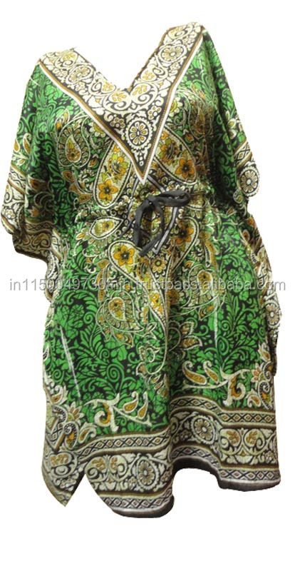 Printed beach wear long kaftan
