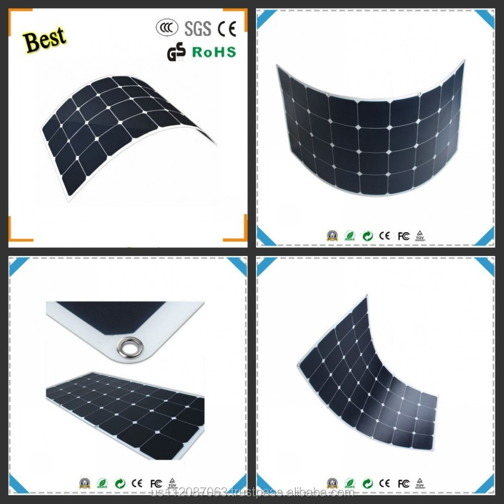 mono poly flexible solar panel 200w CE