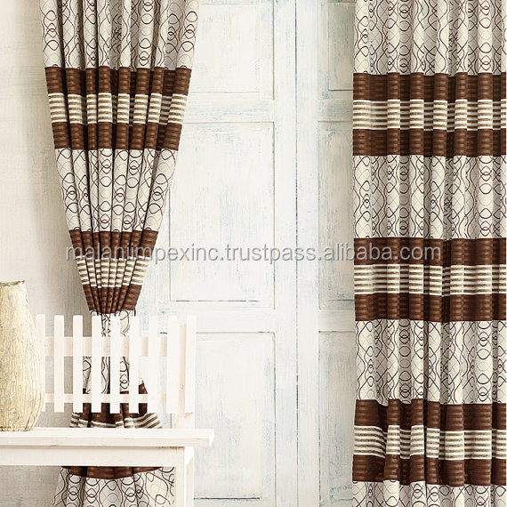Latest fancy fashion curtain designs 2016 for Hotel Home Living Room Office Decoration