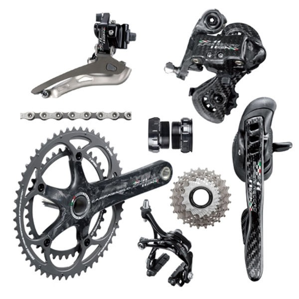 Authentic Campagnolo Super Record RS TI 2x11 Compact Groupset - 50/34