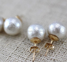 Simple designed single holed beads gold filled earring backs for heavy earrings