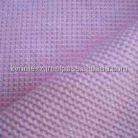 factory supply cotton plain check waffle fabric for dish towel