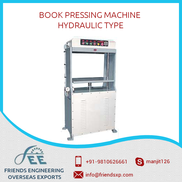 Widely USed Single Platen Perfect Hydraulic Type Book Pressing Machine