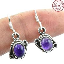 Gorgeous 925 sterling silver amethyst gemstone earring wholesale indian jewellery exporter supplier