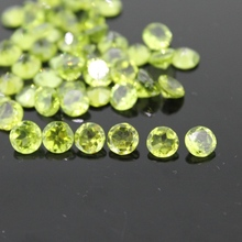superb Quality Diamond Cut 5 mm Rounds in peridot in jaipur