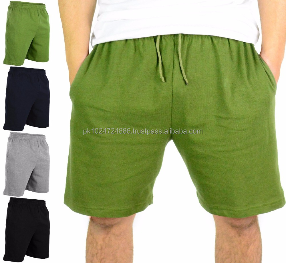 Mens Heavyweight 100% Cotton Gym Shorts With Pockets