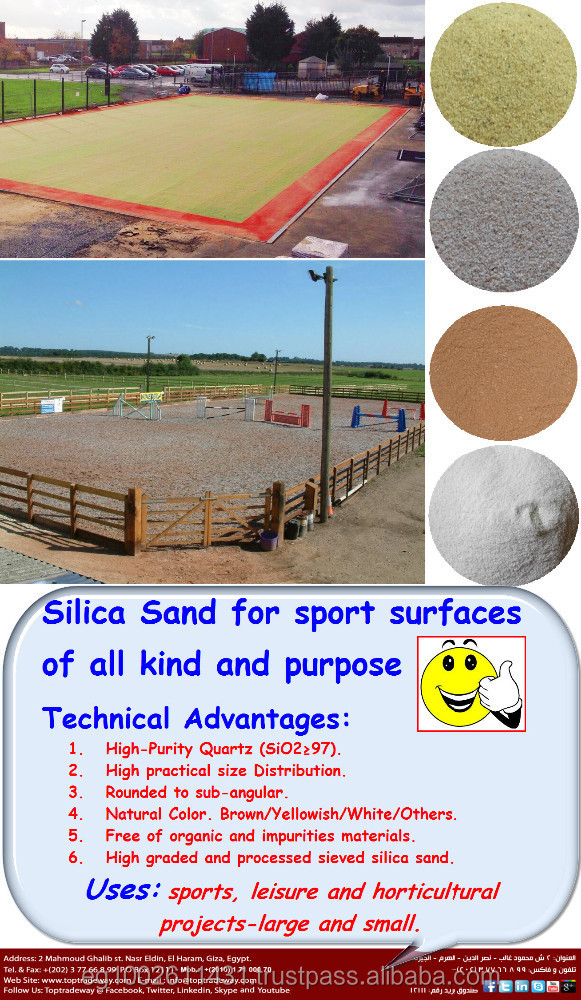 Unique Rounded Sand all over the world for Sports