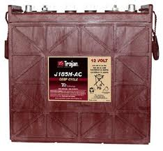 BATTERY TROJAN J185H-AC 12V 205AH @ 20 HR.RATE SOLAR DEEP CYCLE FLOODED CELLS