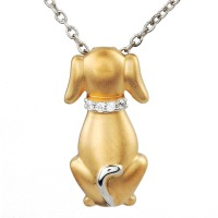 ASPCA Tender VoicesTM IJ Color, I2-I3 Clarity, 0.025 cttw Diamond Sterling Silver Pendant