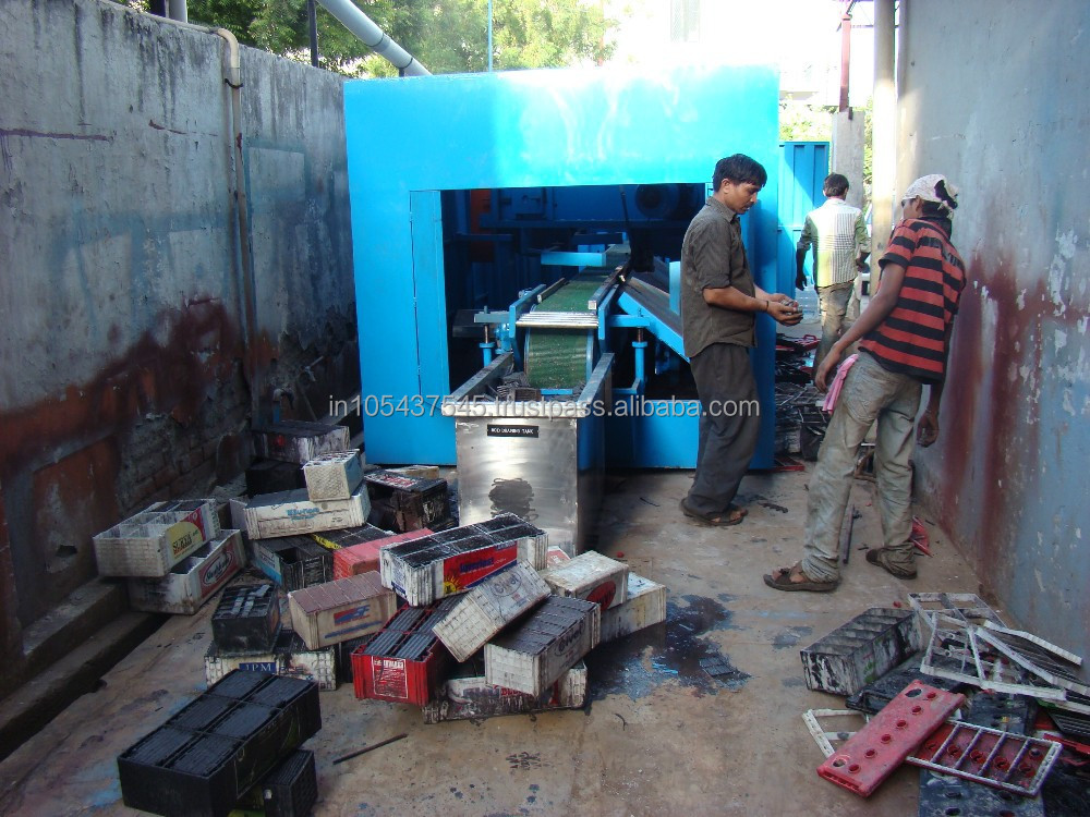 Lead Acid Battery Cutting Machine for Battery Recycling Plant / Automatic waste spent Lead Acid Battery Cutting Machine
