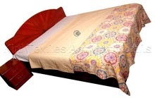KTKG-47 Queen Size Floral Suzani Printed Kantha Gudri / Quilts