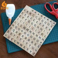 wooden letters for scrap booking handcraft