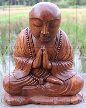 Wooden Craft Buddha Carving for home decoration