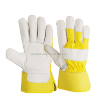 goatskin leather back yellow jean/Canadian Rigger Gloves /Best quality bu taidoc